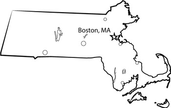 USA Sets - Massachusetts State Map Set {Messare Clips and Design}