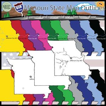USA Sets - Missouri State Outline Set {Messare Clips and Design}