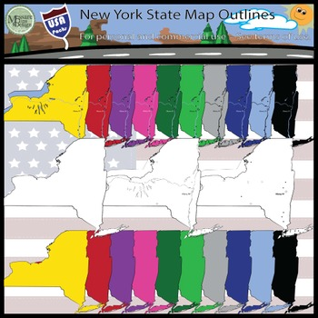 USA Sets - New York State Map Set {Messare Clips and Design}