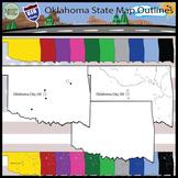 USA Sets - Oklahoma State Outline Set {Messare Clips and Design}