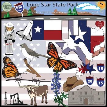 USA Sets - Texas Lone Star State Super Clip Art Set {Messare Clips and Design}