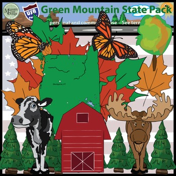 USA Sets - Vermont Green Mountain State Super Pack {Messare Clips and Design}