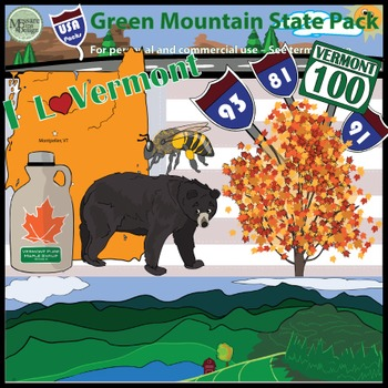 USA Sets - Vermont Green Mountain State Super Pack {Messar