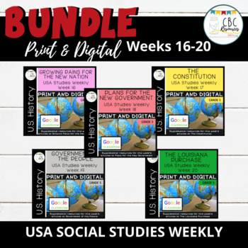 USA Social Studies Weekly Bundle Weeks 16-20