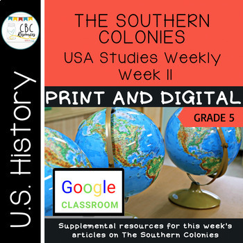 USA Social Studies Weekly-Week 11-The Southern Colonies