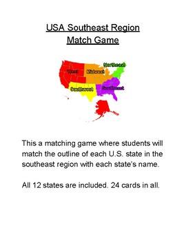 USA Southeast Region Match Game