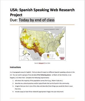 USA: Spanish Speaking Web Research Project