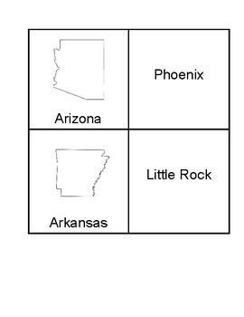 USA State Capital Match Game