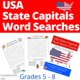 USA State Capitals - Fun Word Search Puzzles for Middle Schoolers