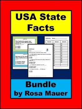 USA State Facts Social Studies Growing Bundle
