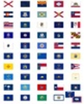 USA State Flags: Flags of the US Clipart