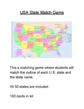 USA State Match Game