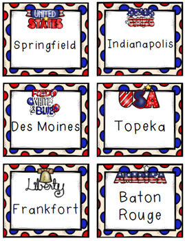 USA States & Capitols Game