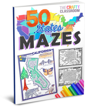 USA State Mazes Activity Pack