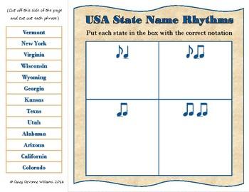 USA State Names – Rhythm & Syllable Matching Game