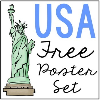 FREEBIE! USA State Map Posters, Geography, History, America