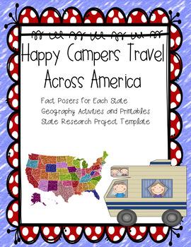 USA State Study - 50 States Geography  - Graphic Organizer
