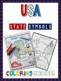 USA State Symbols Coloring Sheets