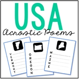 FREEBIE! USA States Acrostic Poem Pages, Government, Geography, Travel, Vacation