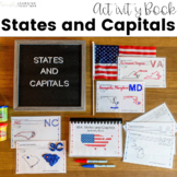 USA States and Capitals Activity Book