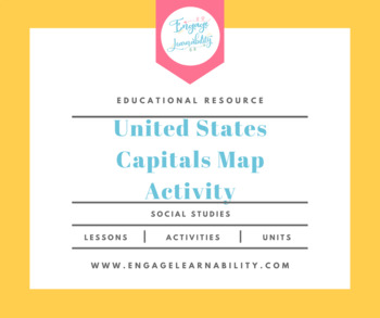 USA States and Capitals Map Activity / Worksheet