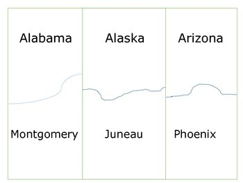 U.S.A. States and Capitals Self-Correcting Sort