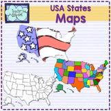 USA United States MAP clip art -Social Studies 107 graphics