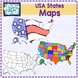USA United States MAP clip art -Social Studies 107 graphics