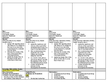 Studies Weekly 1850 to the Present Week 2 Lesson Plan