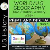 Arkansas USA Studies Weekly Week 1 Geography