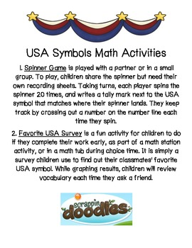 USA Symbols Math Activities (2)/Election Day