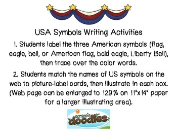 USA Symbols Writing Activities (2)/Election Day