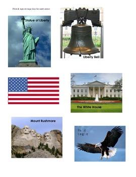USA Symbols and Landmarks Graphing Center