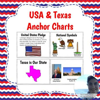 USA & Texas Anchor Charts Bundle