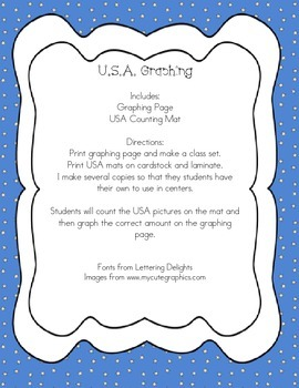 USA Themed Graphing Activity