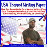 USA Themed Paper for Writer's Workshop and Written Reports and Projects