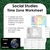 USA Time Zone Worksheet (Times included)