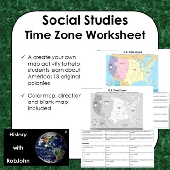 Time Zones Worksheet for 5th Grade | Lesson Planet