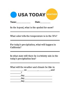 USA Today Weather