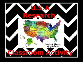 USA Travel Research Activity
