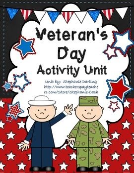 USA Veteran's Day ACTIVITY PACK CCSS Printables, Student B