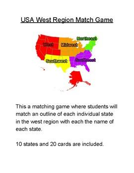 USA West Region Match Game
