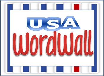 USA Word Wall Theme