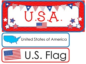 U.S.A. Word Wall Weekly Theme Posters.