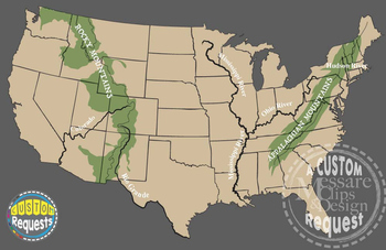 Map Clip Art: USA-North America geography & features {Messare Clips and Design}