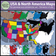 Map Clip Art: USA-North America geography & features {Mess