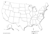 USA - blank map