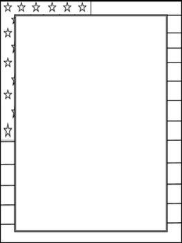 USA flag border (blank insert)