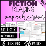 Reading Comprehension Passages {Fiction Set 1/2} Independent Worksheets (PDF)