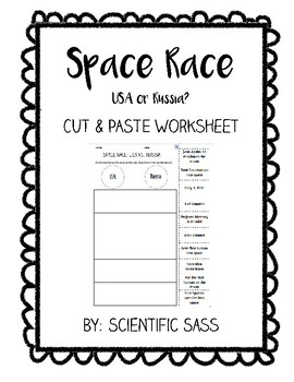 USA or Russia? Space Exploration Cut & Paste Worksheet